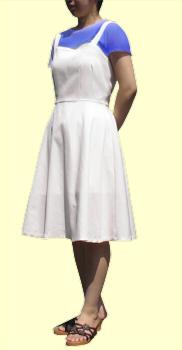 半円フレアスカート