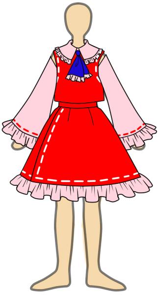 博麗霊夢のコスプレ衣装のデザイン