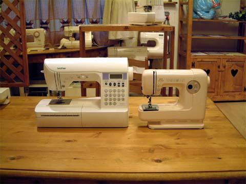 ミシンの比較 大きさと縫いやすさ