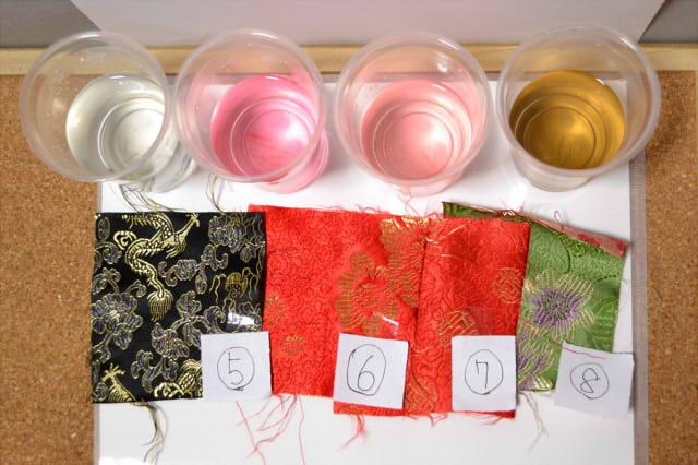 チャイナジャガードの色落ち実験