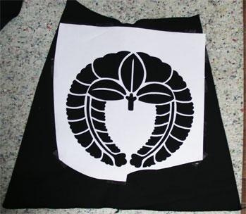 石田三成風衣装製作中