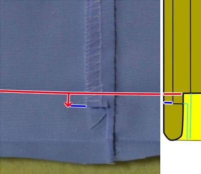針折れしない裾の縫い方