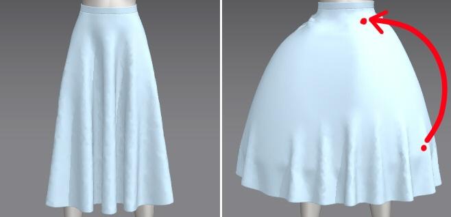 クラシカルなドレスやスカートでドレープの入ったデザインを作りたいという方 ボリュームのあるデザインで作りたい!という方が多いと思います。