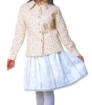 ウエストゴムのギャザースカート