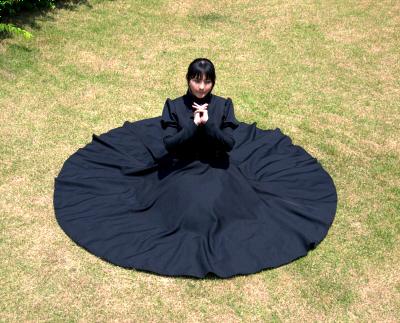 全円スカートのワンピース