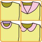 襟の縫い方や型紙の作り方