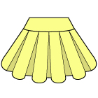 バルーンスカートの縫い方