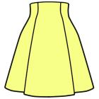 ハイウエストのスカートの縫い方