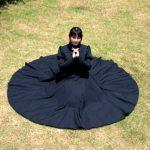 全円スカートのワンピースの縫い方