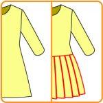 ウエストをしぼらないボックスプリーツスカートの型紙の作り方