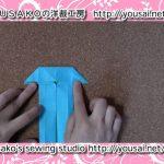 【折紙】シャツを作る方法【動画】