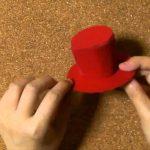 縫わずにボンドで作る簡単ミニハット、シルクハットの作り方【動画】