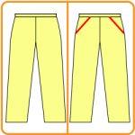 【おさいほう】ズボンのポケットの型紙のつくり方と縫い方