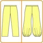 【おさいほう】膨らんですそがすぼまったズボン(ハーレムパンツ)を作る方法