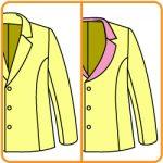 【おさいほう】襟のVゾーンがカーブしたジャケットの改造方法