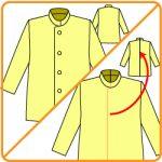 【おさいほう】前開きの服の型紙を後開きの型紙にする方法