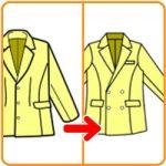 【おさいほう】シングルボタンのジャケットをWボタンに改造する