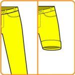 【おさいほう】ロールアップのズボンに改造する方法