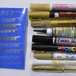 【おさいほう】布や合皮に金色ペンを試してみた