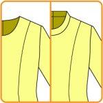 【おさいほう】後あきの服のスタンドカラーの型紙を作る方法