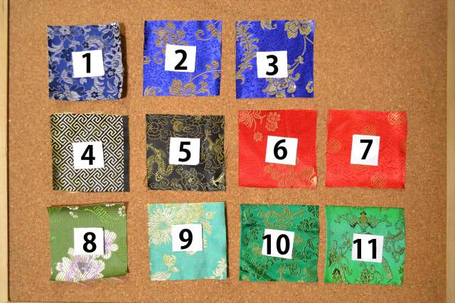 チャイナ生地の色落ち実験