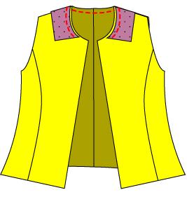ドール用テーラードカラーの縫い方