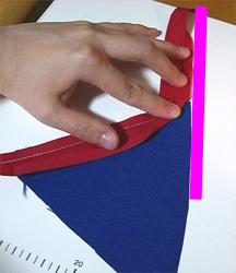 バイアステープの90度以外の角の縫い方