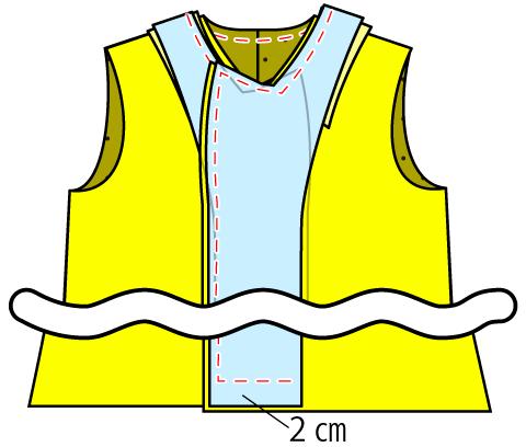 男装用ダブルボタンの白衣の作り方