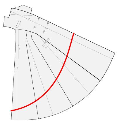 パネルラインをフィッシュテールにする方法