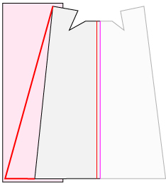 ストレートマントの幅を広げる方法