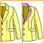襟のVゾーンがカーブしたジャケットの改造方法