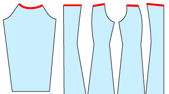 ブラウスやワンピースをオフショルダーに改造する方法