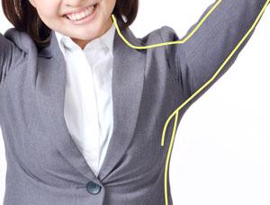 洋服の袖の運動量(可動域について)