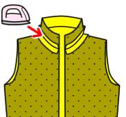 ジャケットのえりの縫い方