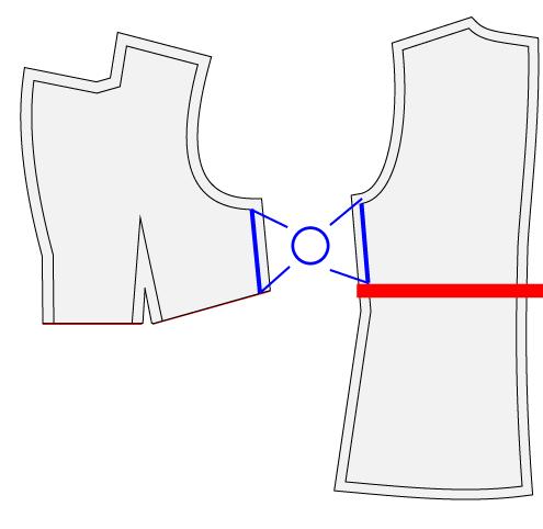 テーラードジャケットをショートジャケットに改造する方法
