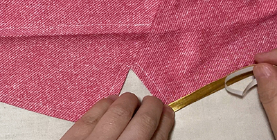 コスプレ向け、テーラードカラーやスタンドカラーのジャケットに縁取りする方法