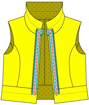 オープンファスナージャケットの作り方