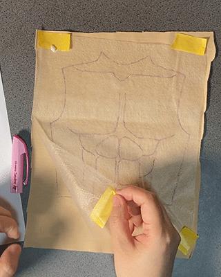 型紙の写し方