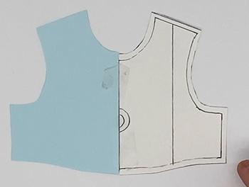 複数線のある型紙の写し方