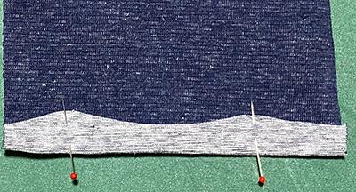 ニットの縫い代の折り方