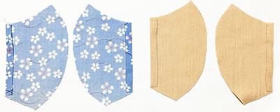 布で作る立体マスクの作り方