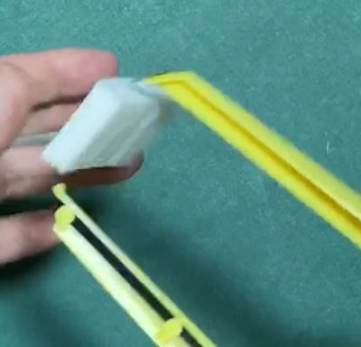 ダイソーのスチロールカッターでミニチュアレジ袋を作る