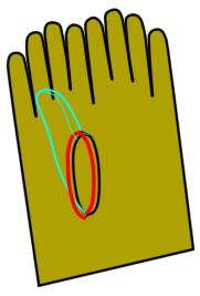 ニットの手袋の作り方(縫い方)