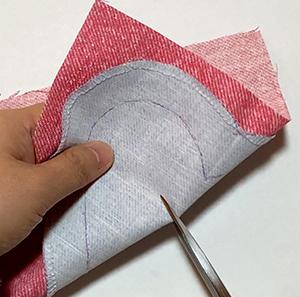 布を好きな形にくり抜く方法