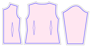 婦人服を子供服に縮小する