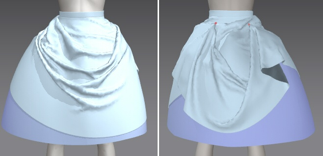 おさいほう】ドレープスカートの作り方