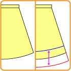 スカートの改造方法
