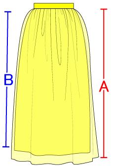 レイヤードスカートの作り方