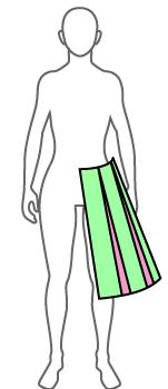 プリーツのオーバースカートの作り方