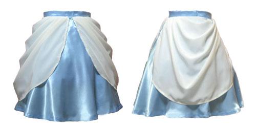 お姫様のドレスのようなオーバースカートの作り方